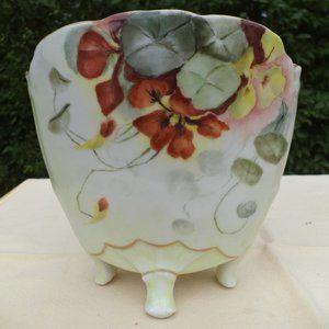 1800's Floral Hand Painted  Limoge  Vase  France